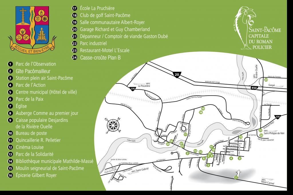 Carte Saint-Pacôme 2011 - Municipalité Saint-Pacôme