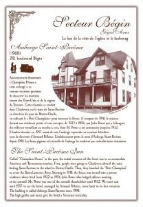 Circuit patrimonial - Auberge St-Pacôme - Municipalité Saint-Pacôme