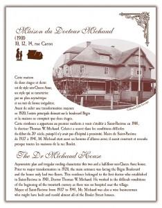 Circuit patrimonial - Maison du Docteur Michaud - Municipalité Saint-Pacôme