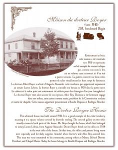 Circuit patrimonial - Maison du docteur Royer - Municipalité Saint-Pacôme