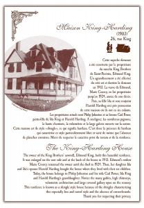Circuit patrimonial - Maison King-Harding - Municipalité Saint-Pacôme