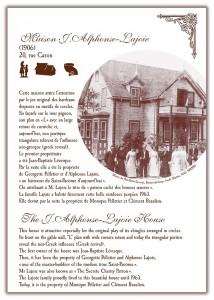 Circuit patrimonial - Maison Alphonse-Lajoie - Municipalité Saint-Pacôme
