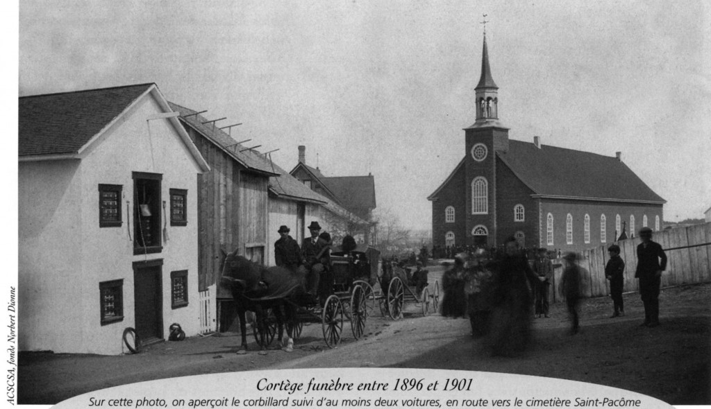 Cortège funèbre 1896-1901 - Municipalité Saint-Pacôme